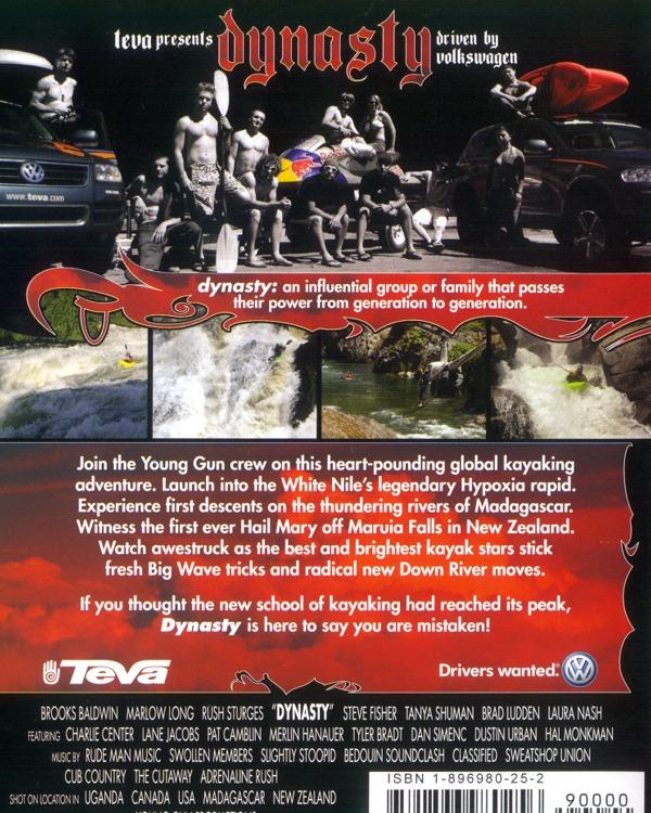 Back voer of Dynasty kayaking video