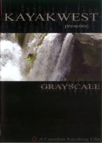 Grayscale whitewater kayak