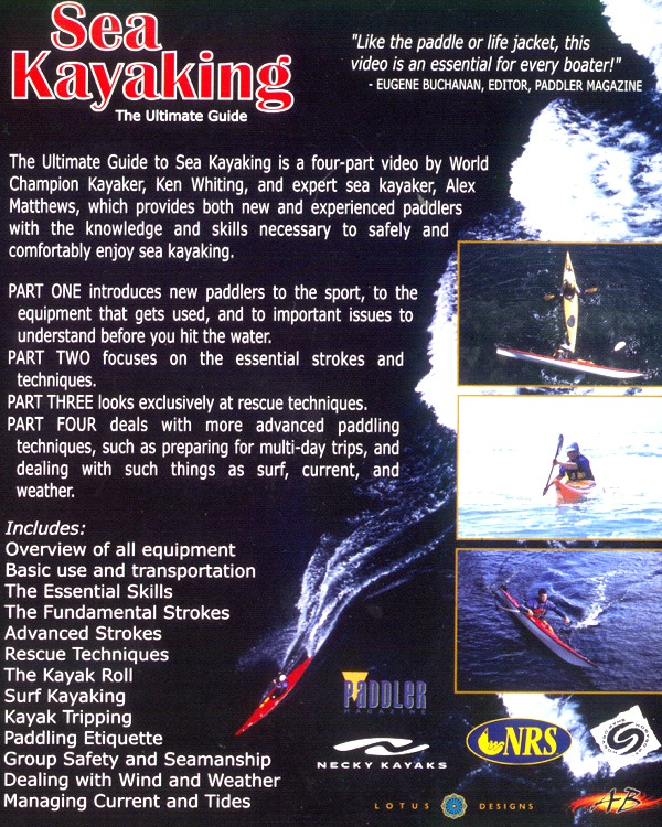 Back cover of Ken Whiting's Sea Kayaking